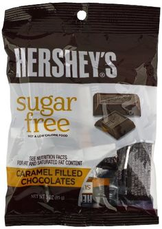 Hershey's Sugar-Free Milk Chocolate Caramel Filled, 3-Ounce Bags (Pack of 12) - http://bestchocolateshop.com/hersheys-sugar-free-milk-chocolate-caramel-filled-3-ounce-bags-pack-of-12/