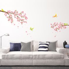 Cherry Blossoms & Birds Wall Stickers <you can also buy this product in Amazon>   https://www.amazon.com/Decowall-DW-1303-Blossoms-Nursery-Stickers/dp/B00FLW7FKU/ref=sr_1_1?ie=UTF8&qid=1494841327&sr=8-1&keywords=decowall+1303