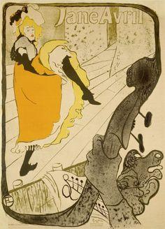 HENRI DE TOULOUSE-‐LAUTREC, Jane Avril, 1893