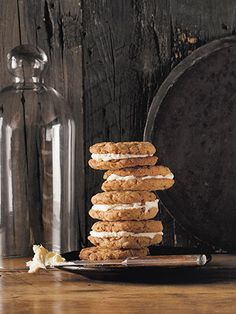 Oatmeal Ginger-Cream Pies | Country Living, October 2013