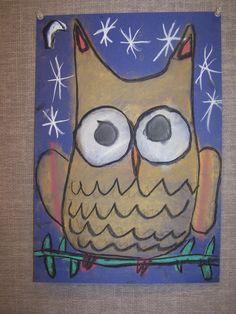 kindergarten pastel owl