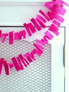this garland looks really easy to make and it could be easily done in any color to match the theme.