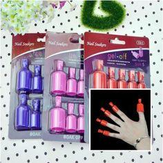 10PCS UV Gel Polish Remover Soak Wearable Nail Soakers Nail Tools