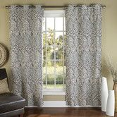 Found it at Wayfair - m.style Istanbul Poly Duck Cloth Grommet Curtain Panel (Set of Cool Curtains, Blue Curtains, Grommet Curtains, Window Curtains, Floral Curtains, Drapery, Contemporary Curtains, Curtain Designs, Curtain Ideas