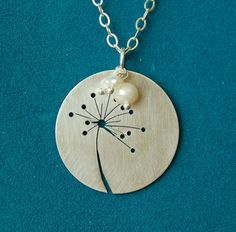 Cut Dandelion in Sterling Silver by AnniePants on Etsy, $46.00