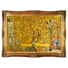 Add iconic style to your walls with this inspiring hand-painted reproduction of Gustav Klimt's The Tree of Life, artfully framed for gallery-worthy ap...