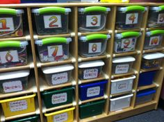 Debbie Diller's Math Tub System. Kindergarten Photos: Mrs. Partin | The Cornerstone