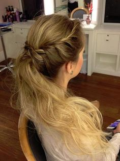 Braid & Ponytail Hairstyle for Prom 2014- 2015