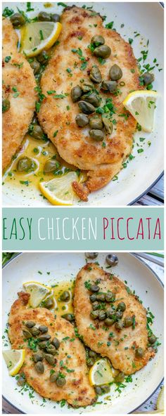 SUPER Easy Chicken Piccata 🍋 Chicken Picatta could definitely pass as one of my All-Time FAVORITE dishes! The fresh tangy lemon.the capers.the crunchy pan-fried chicken 😍😍 ohhh. Clean Dinners, Clean Eating Recipes For Dinner, Clean Recipes, Clean Eating Snacks, Budget Recipes, Clean Lunches, Clean Foods, Easy Dinners, Family Recipes