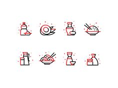 Icons for Chinese food