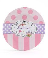 Castle Princess Melamine Plate- Personalized for you