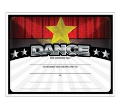Elegant dance certificate template free 123certificate templates dance athletic certificate jones school supply yelopaper Images