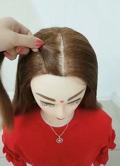 Make many hair styles with elastic band Machen Sie viele Frisuren mit Gummiband Baby Girl Hairstyles, Princess Hairstyles, Diy Hairstyles, Medium Hair Styles, Natural Hair Styles, Long Hair Styles, Girl Hair Dos, Crazy Hair Days, Creative Hairstyles