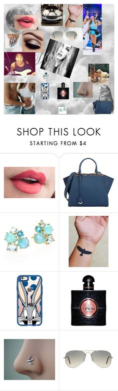 """""""Leigh Anne 23"""" by nikoleta-nicky-malik ❤ liked on Polyvore featuring Zone, Fendi, Ippolita, Casetify, Yves Saint Laurent and Ray-Ban"""