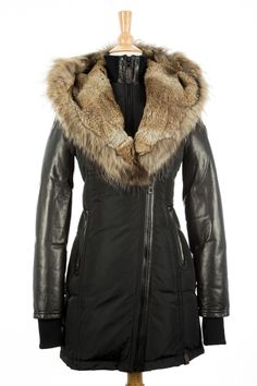 Down Solid Regular Size XS Coats & Jackets for Women Black Down, Furs, Fur Coat, Jackets For Women, Coats, Natural, My Style, Clothes, Shopping
