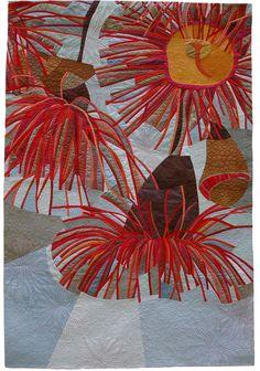 Created Choreography, 178 x 145 cm,  by Ruth de Vos | textile art, art quilt