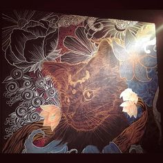 Half done. Finally, I can go home! I gotta sleeeeep!  #wip #mural #doodleart #wallart #cats #catsofinstagram #posca #sharpie #acrylics #linearart #shrooms #shrubs #flora #details #imaginariart #imaginationarts #instaart #instartist_ #instadraw #theartshed #artFido #arts_help #artistsmuseum #worldofartists #artofdrawing #spotlightonartists #Art_Spotlight #artmagazine #doodleartenthusiasts