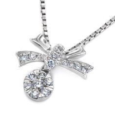 X1000Diamond 18K White Gold Bow with Cluster Diamond Pendant w/Silver Chain (0.18ctG-H Color,SI1-SI2 Clarity) X1000Diamond http://www.amazon.ca/dp/B00GY0F07S/ref=cm_sw_r_pi_dp_53Quwb16EMN71