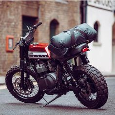 Adventure gear by @mallelondon #motorcycles #streettracker #motos | caferacerpasion.com