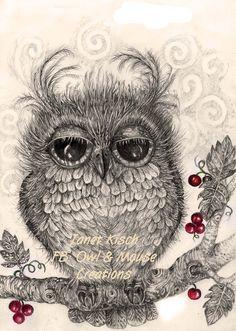 Berry Owl Janet Kisch https://www.facebook.com/pages/Once-Upon/122225247945788?ref=hl