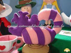 ARTE COM FELTRO: Gato Cheshire - Alice no País das Maravilhas (Cheshire Cat - Alice in Wonderland)