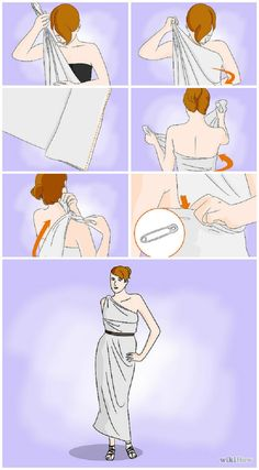 A Toga From A Bed Sheet - 15 Folding Tutorials That'll Make Your Life Easier | GleamItUp