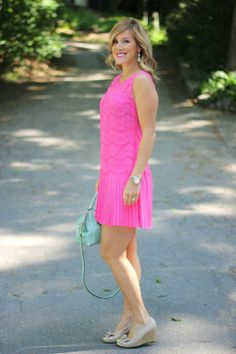 Pleated Lace Dress