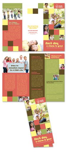 Kindergarten Tri Fold Brochure - Microsoft Word Template