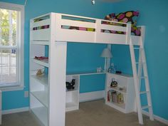 How to Build a Loft Bed.  This girl is AMAZING! I think i just added about 10 new DIY house projects