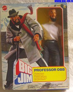 Big Jim Professor Obb, The Mad Doctor, Action Figure by Mattel, 1970's