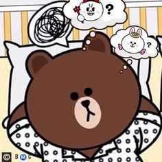 Cute Love Pictures, Cute Love Gif, Cony Brown, Brown Bear, Line Cony, Cute Couple Cartoon, Brown Line, Bunny And Bear, Emoji Faces