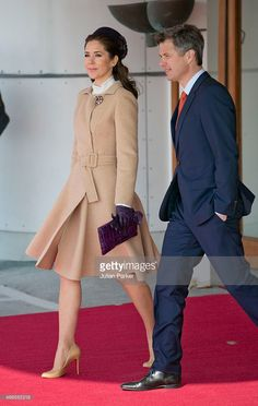 --arrival at Copenhagen Airport on March 17, 2015--Crown Princess Mary of Denmark and Crown Prince Frederik of Denmark... News Photo | Getty Images