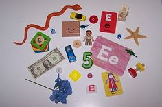 """Letter """"E"""" activities/trays"""