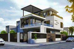 Bungalow House Design, House Front Design, Modern House Design, Modern Architecture House, Architecture Design, Modern Bungalow Exterior, Model House Plan, House Design Pictures, House Elevation