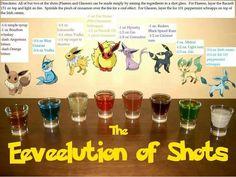 Pokemon shots. Cute idea for a themed party