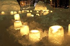 A great idea! We love these ice lanterns idea for the outdoor lighting.