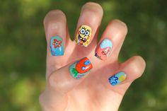 Spongebob Nails - CoewlessPolish