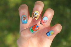 Spongebob Nails - CoewlessPolish