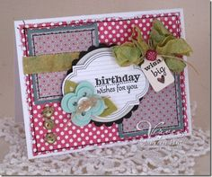 Birthday card by Maureen Plut using Verve Stamps.