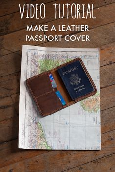 Make yourself a leather passport cover with extra card slots. Not sure how? Check out the full build along video tutorial to get you started!
