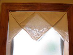 valance made from folded napkins