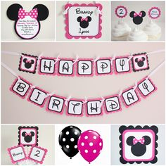 5M Creations: Minnie Mouse Party Line: Hot Pink & Black