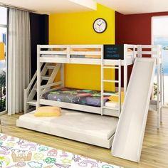 beliche com escorregador e mais uma cama inferior