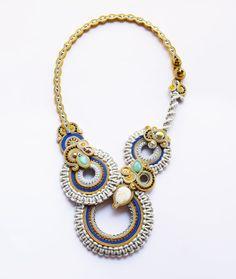 Romantic soutache necklace.