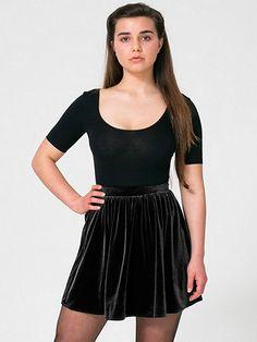451165854e0 American Apparel - Stretch Velvet Skirt