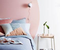 City slickers, the head of a bed or commonly called a Headboard Ideas is just one of the decor aspects that can make a room more to life Home Bedroom, Bedroom Wall, Bedroom Decor, Bedrooms, Bed Without Headboard, No Headboard, Headboard Ideas, Headboard Alternative, Painted Beds