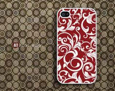 iphone 4 case iphone 4s case iphone 4 cover red flower graphic design printing. $13.99, via Etsy.