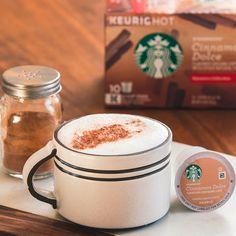 Flavored Coffees | Starbucks® Coffee at Home Roasting Coffee At Home, Cinnamon Dolce, Starbucks Coffee, Keurig, Mocha, Caramel, Vanilla, Tableware, Sticky Toffee