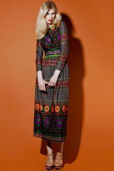 Shop Vintage | 1960s Geometric Floral Print Dress | Thrifted & Modern