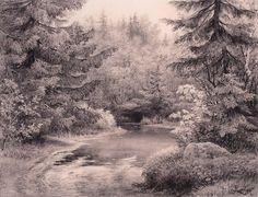 Forest stream  - Ivan Shishkin